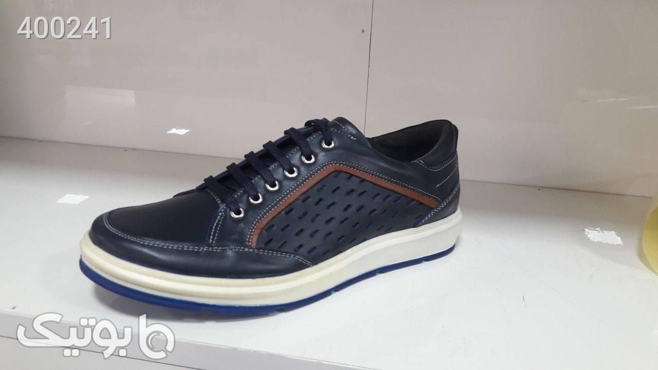 کفش ونس طبی  کاملا سبک رو راحت سورمه ای كفش مردانه