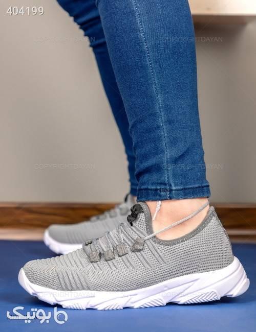 کفش مردانه Adidas مدل 12608  نقره ای كفش مردانه