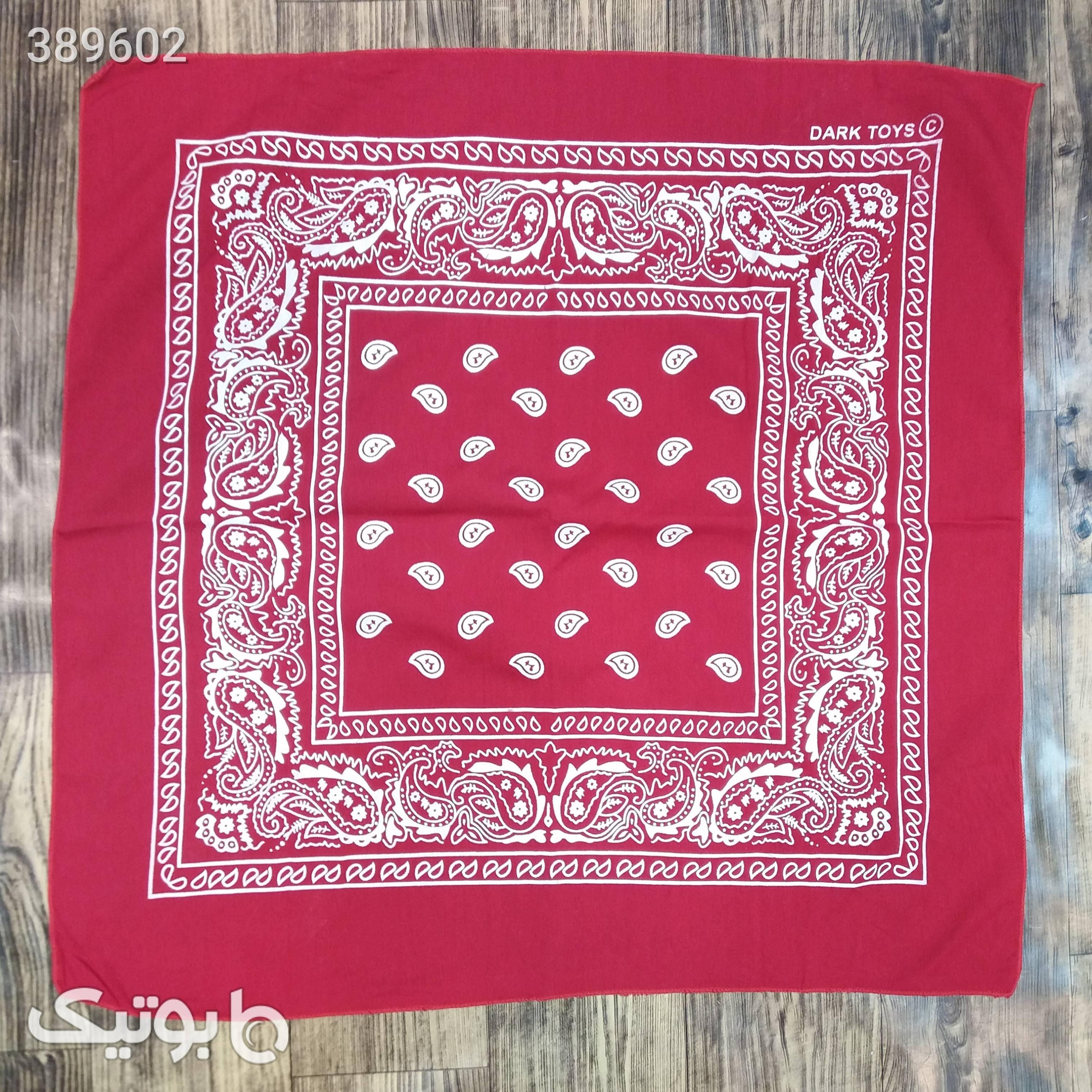 باندانا (دستمال سر و گردن) قرمز کلاه و اسکارف