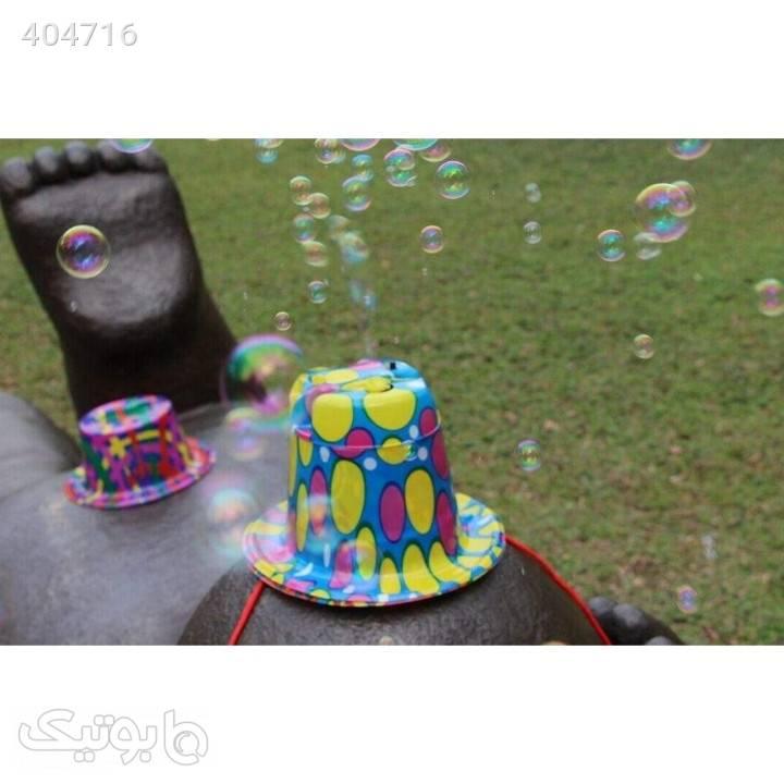 کلاه حباب ساز جادویی آبی کلاه و اسکارف
