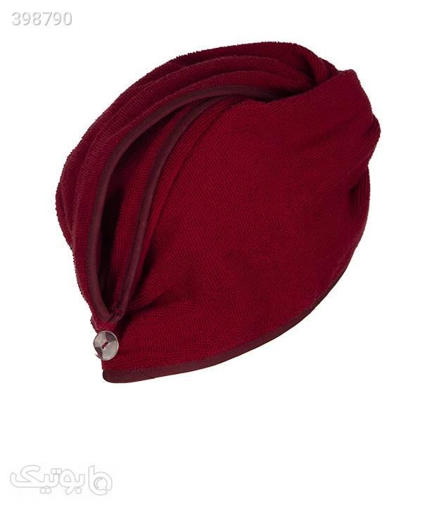 کلاه حوله ای نانو آنتی باکتریال - زرشکی زرشکی کلاه و اسکارف