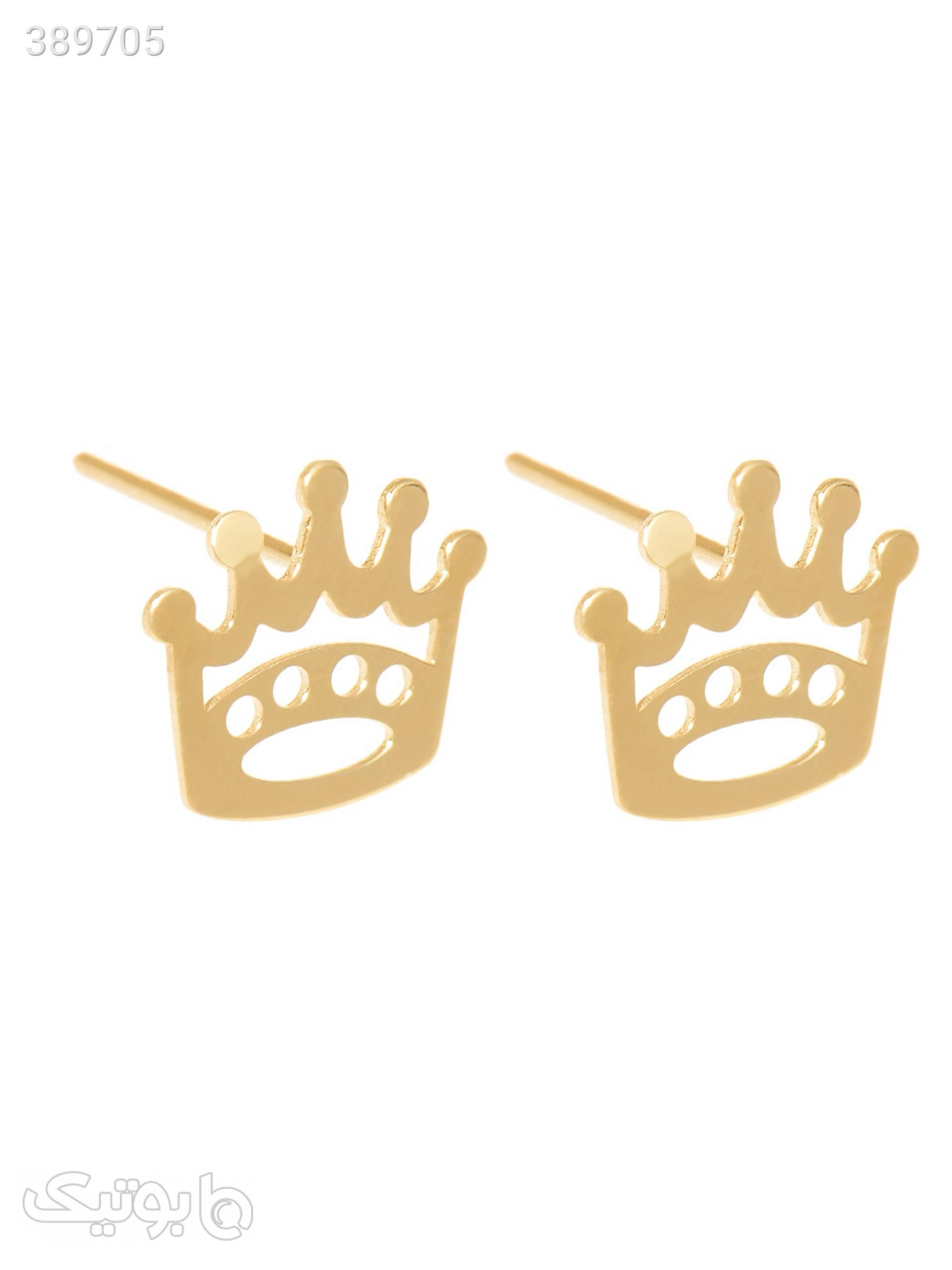 گوشواره طلا 18 عیار زنانه مدل GM12 طلایی گوشواره