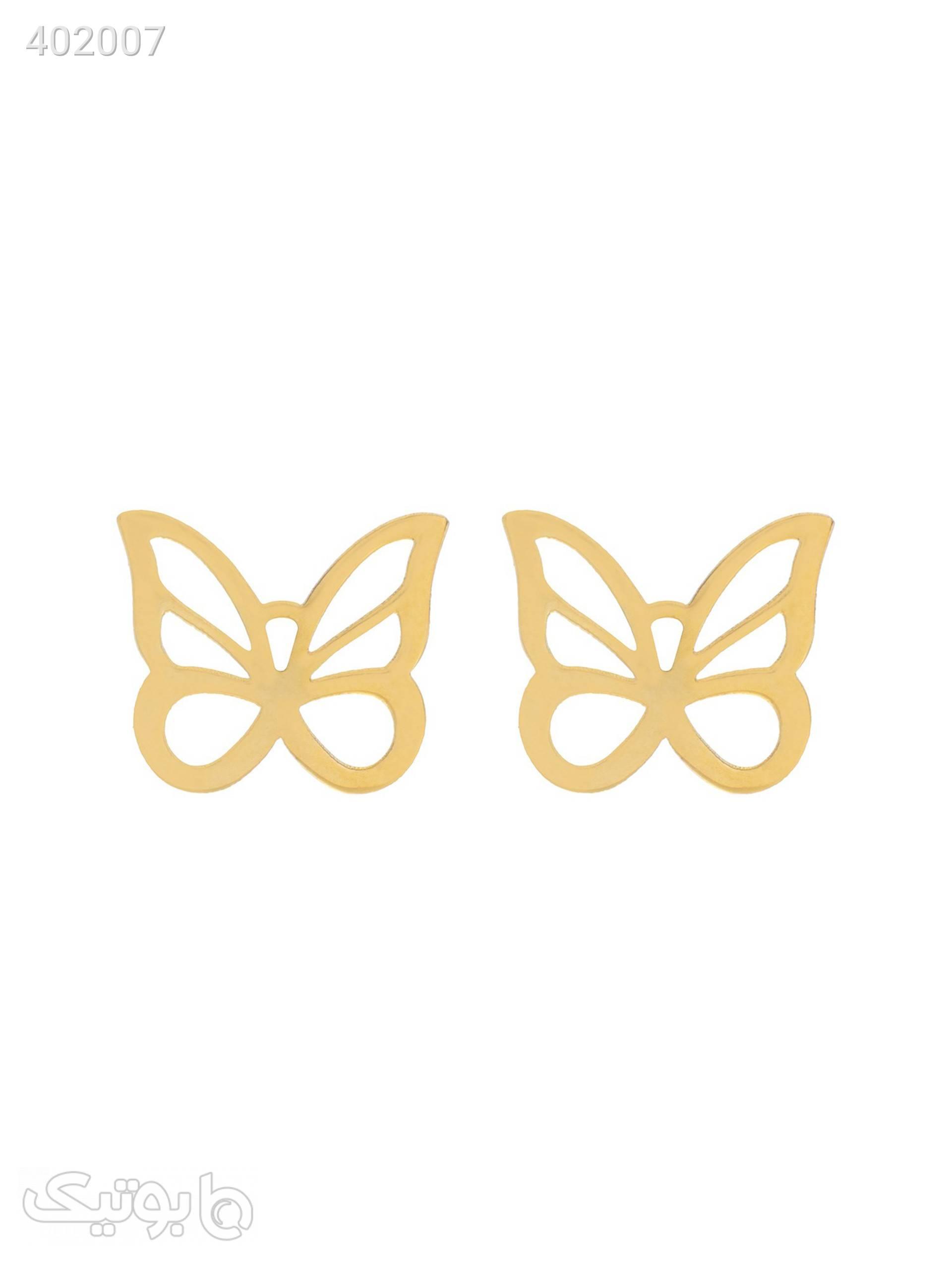 گوشواره طلا 18 عیار مدل EG139 طلایی گوشواره