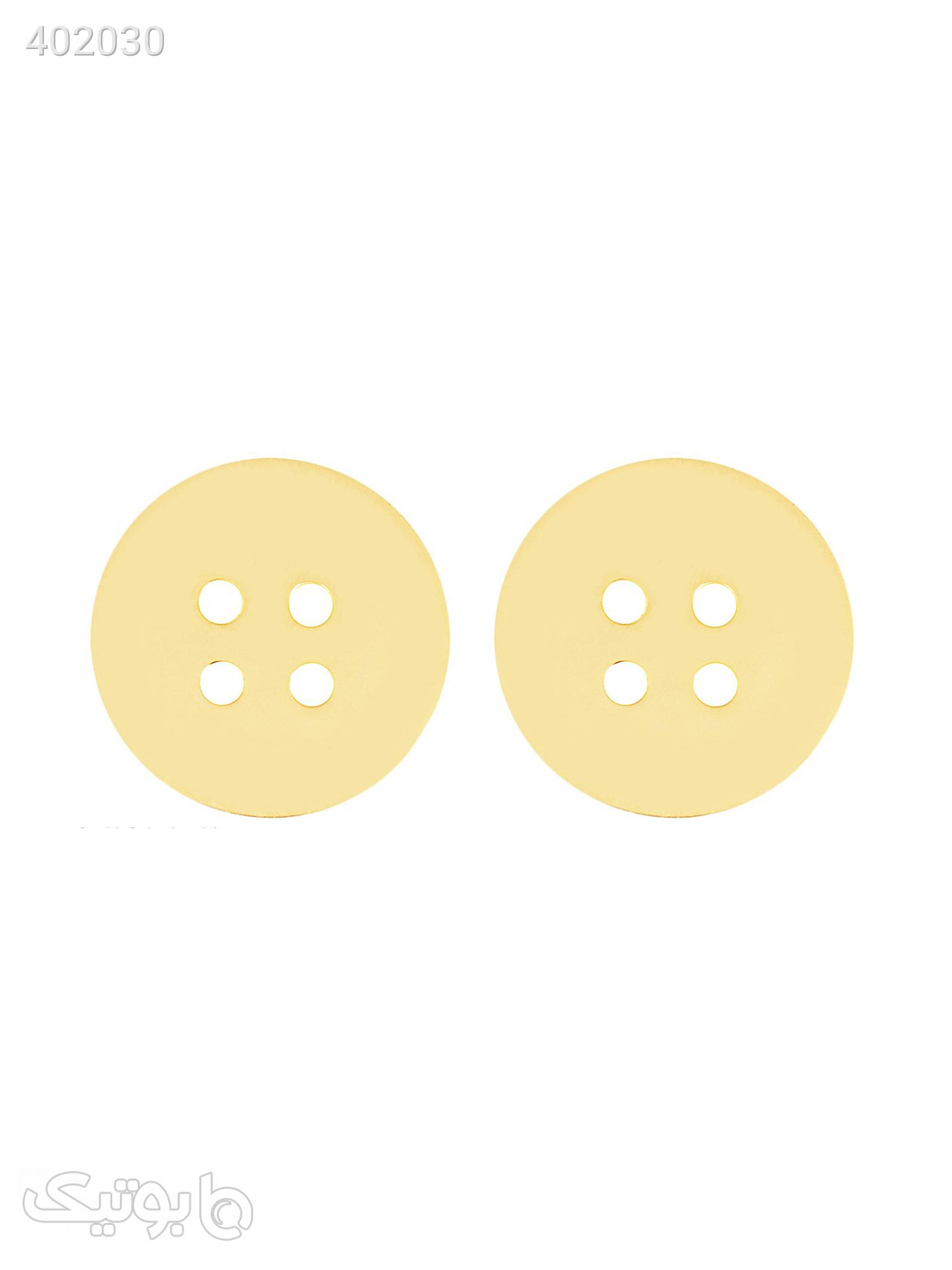 گوشواره طلا 18 عیار مدل GM37 طلایی گوشواره