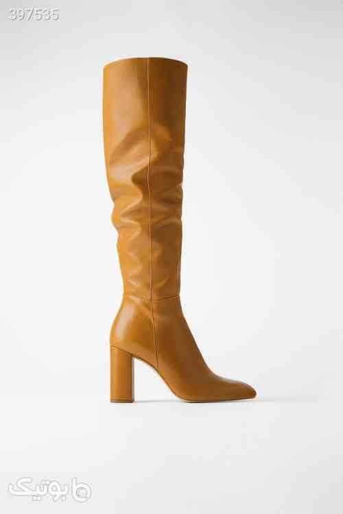 بوت عسلی ساق بلند برند زارا Zara زرد 98 2020