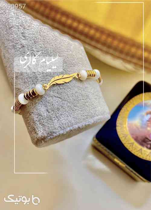 دستبند طلا و سنگ برگ - دستبند و پابند