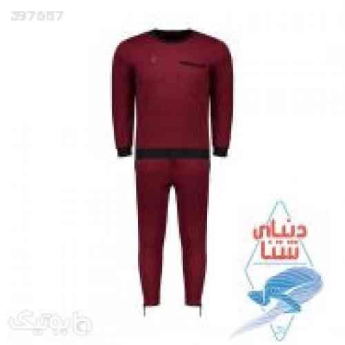 ست سویشرت و شلوار ورزشی مردانه زرشکی 98 2020
