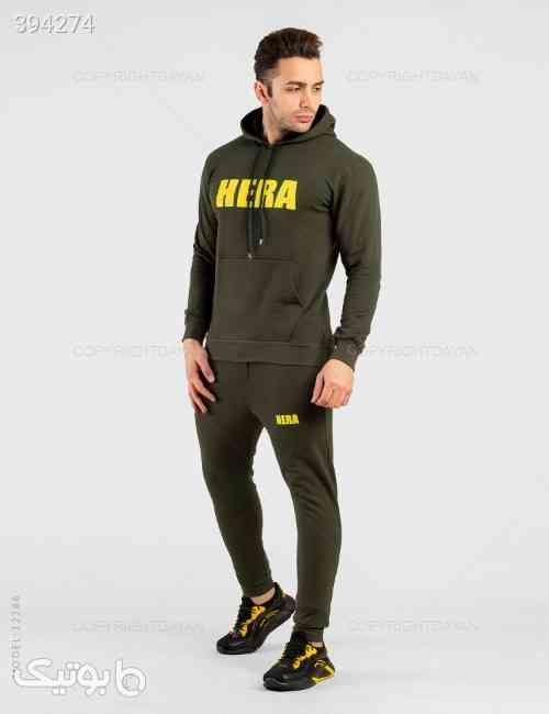 ست سویشرت و شلوار مردانه Hera مدل 12286 سبز 98 2020
