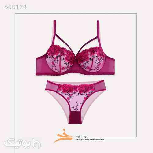 ست لباس زیر زنانه انوشه کد 405 07 زرشکی 98 2020