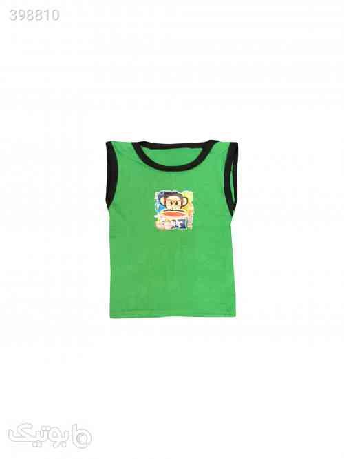 تاپ نوزادی کد 3037 رنگ سبز - لباس کودک پسرانه