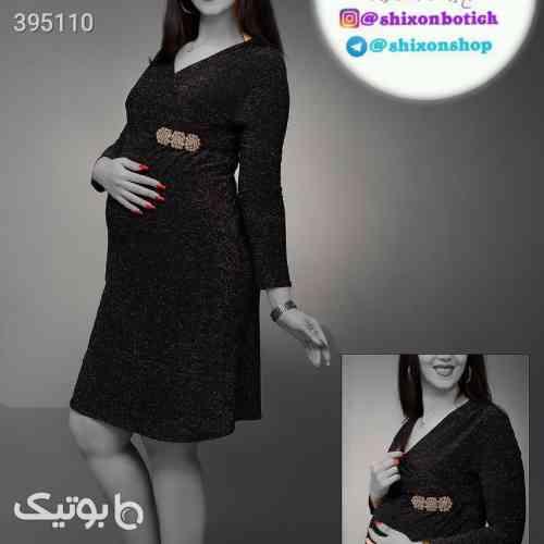 پیراهن مجلسی لمه  مدل ماهشیدا بارداری مشکی 98 2020