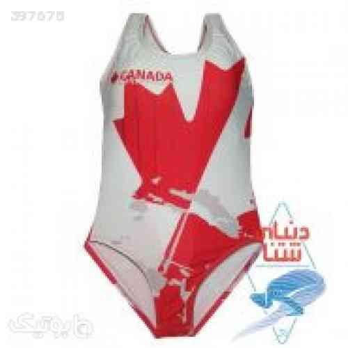 مایو زنانه اسپیدو طرح پرچم کانادا قرمز 98 2020