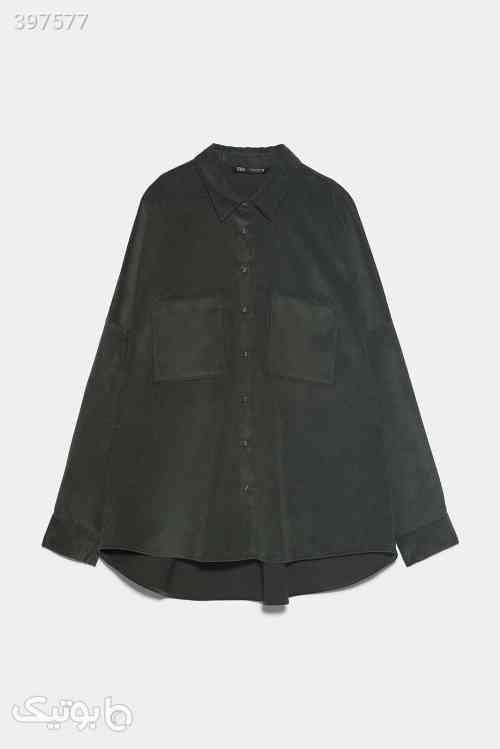 پیراهن کبریتی مخمل زارا رنگ سبز سبز 98 2020