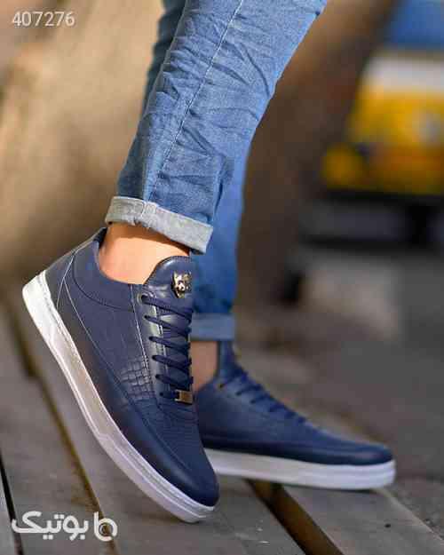 کفش پیاده روی مردانه چرم صنعتی درجه۱ مشکی 98 2020