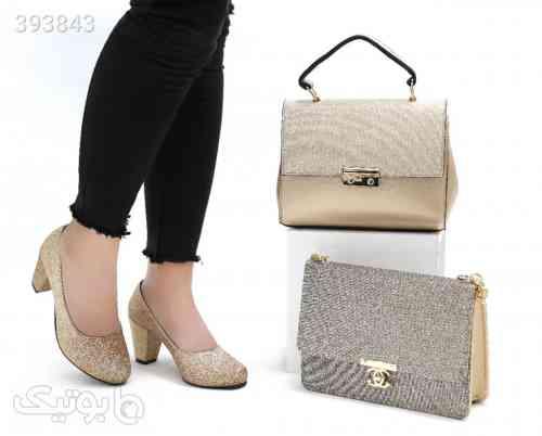 کفش و کیف بزرگ و کوچک زرد 98 2020