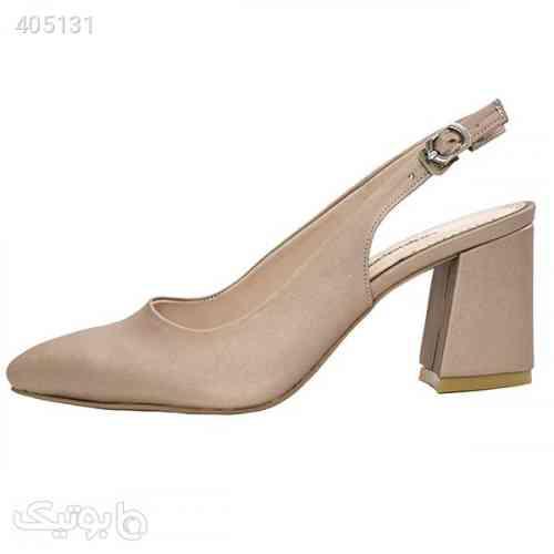 کفش پاشنه دار زنانه مدل S14 کرم 98 2020