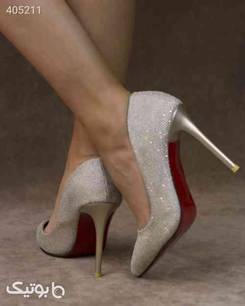 کفش پاشنه دار زنانه مدل S30 نقره ای 98 2020