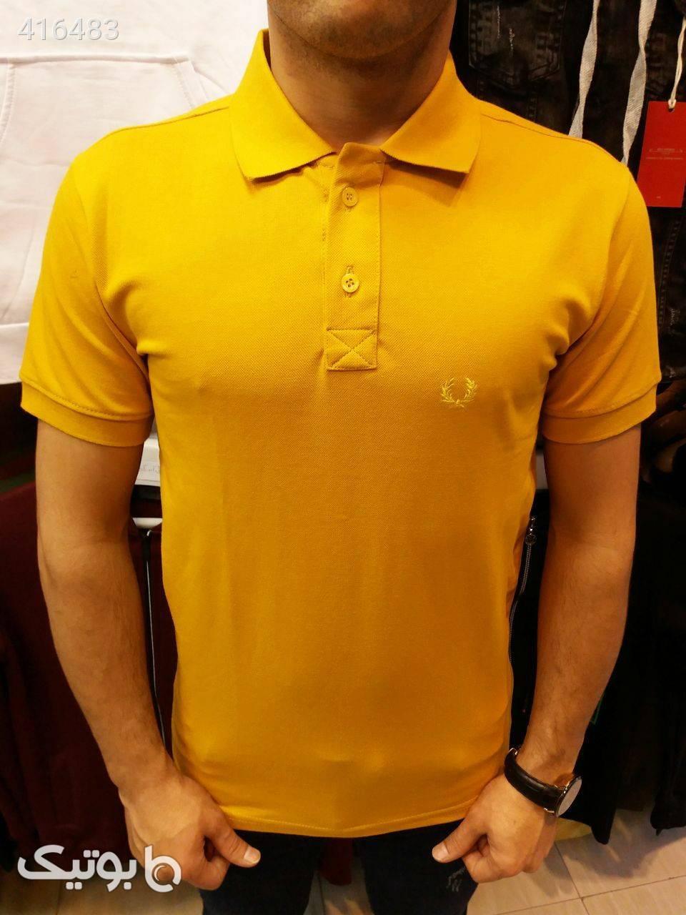 تیشرت جودون یقه دار زرد تی شرت و پولو شرت مردانه