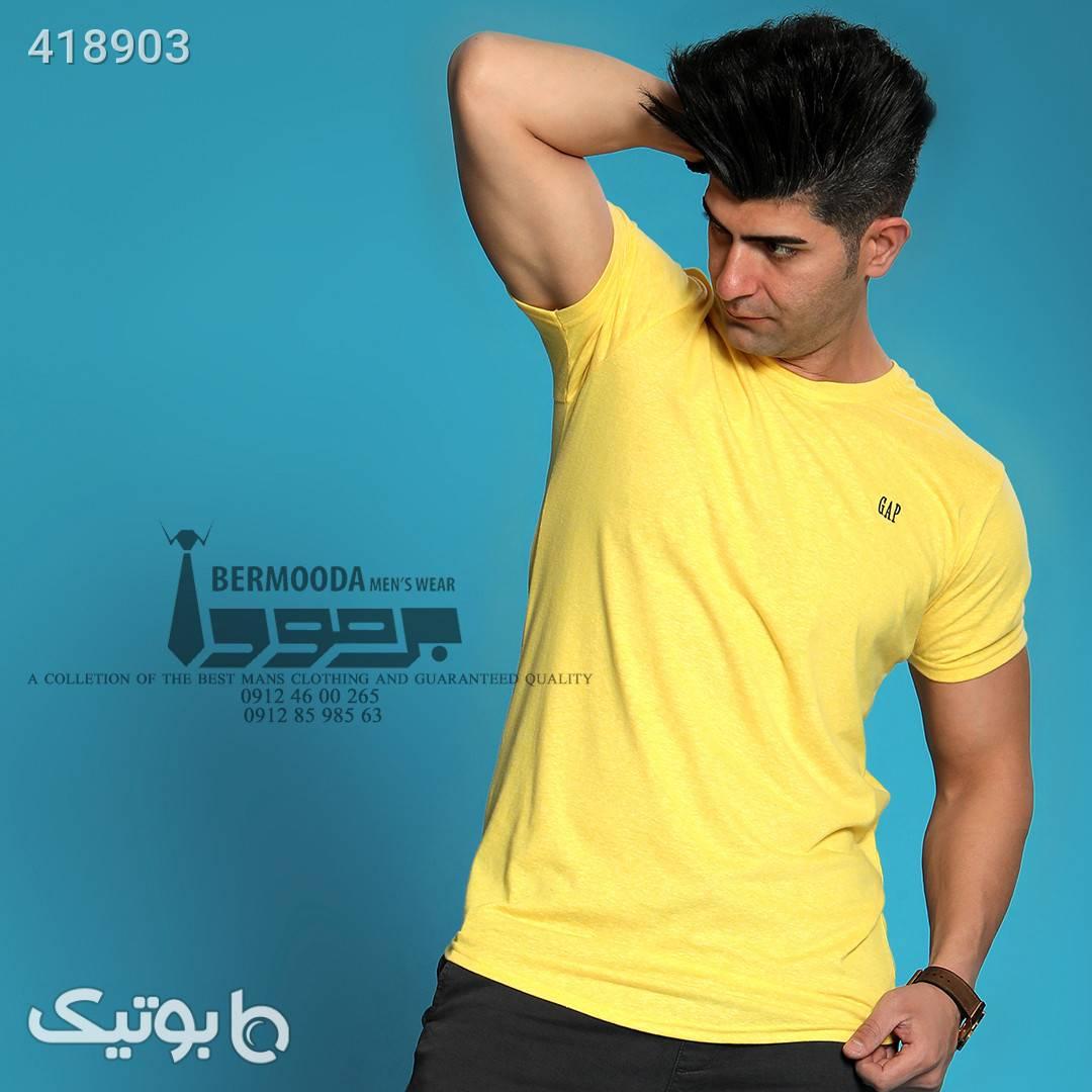 تی شرت نخی زرد تی شرت و پولو شرت مردانه