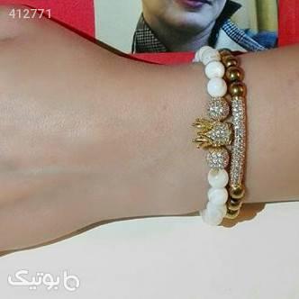 دستبند سنگ صدفی  سفید دستبند و پابند