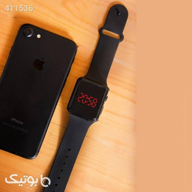ساعت مچی مدل Led watch مشکی ساعت