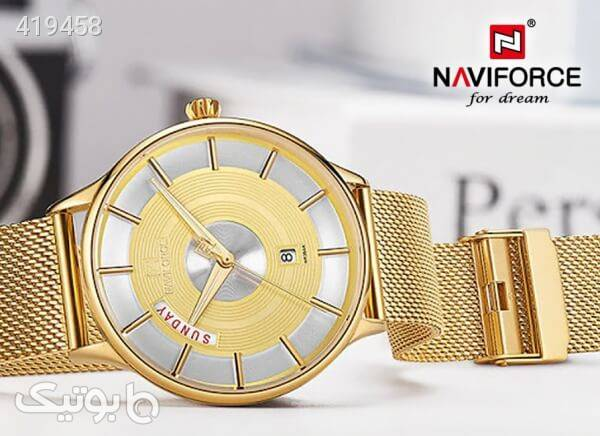 ساعت مچی ناوی فورس مدل NF3007M رنگ طلایی طلایی ساعت