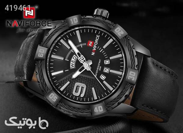 ساعت مچی ناوی فورس مدل NF9117M رنگ مشکی مشکی ساعت