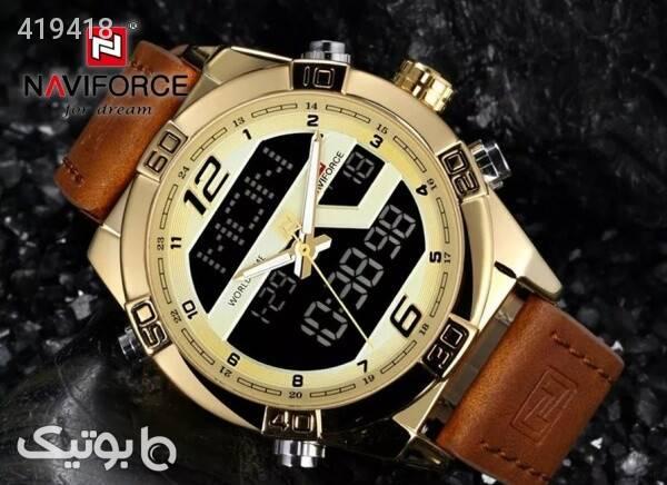 ساعت مچی ناوی فورس NF9128M رنگ طلایی قهوه ای ساعت