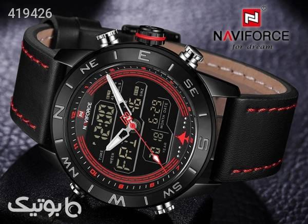 ساعت مچی ناوی فورس NAVIFORCE مدل NF9144M رنگ مشکی قرمز مشکی ساعت