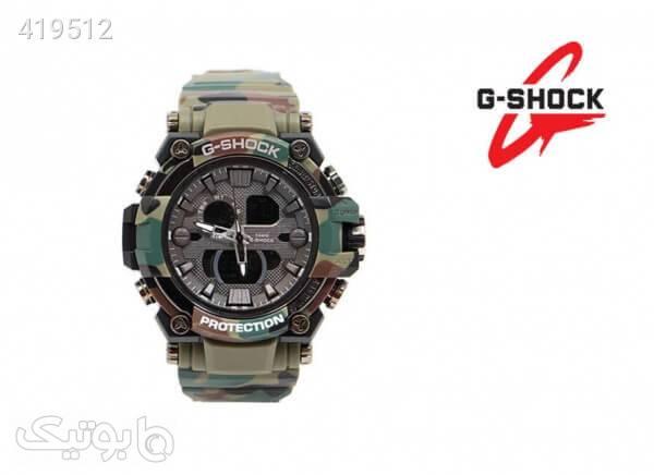 ساعت G-SHOCK دو زمانه مدل 3258 چریکی رنگ سبز سبز ساعت