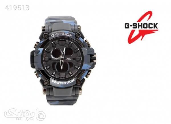 ساعت G-SHOCK دو زمانه چریکی مدل 3258 رنگ آبی آبی ساعت