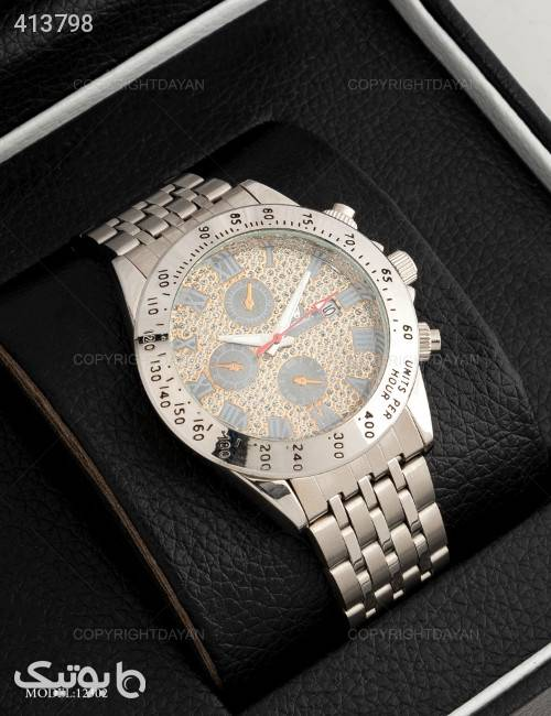 ساعت مچی مردانه Rolex مدل 12302  نقره ای ساعت