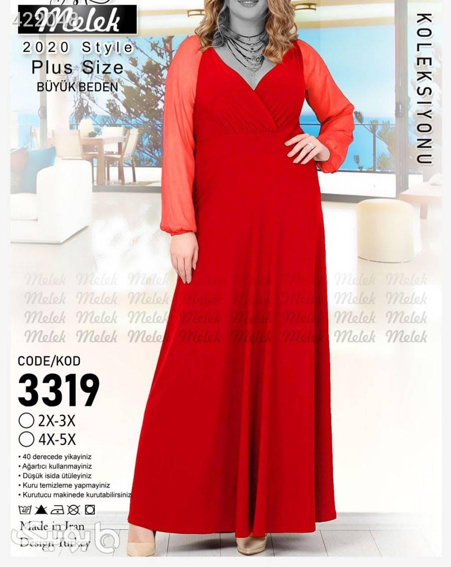پیراهن سایز بزرگ قرمز سایز بزرگ زنانه