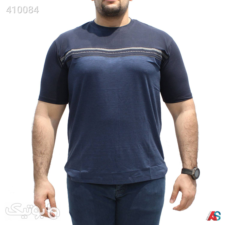 تیشرت سایز بزرگ کد محصولRO03 سورمه ای سایز بزرگ مردانه