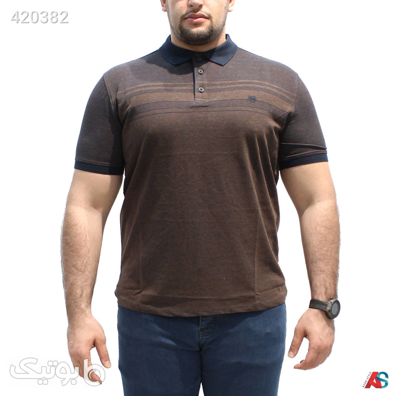 تیشرت سایز بزرگ کد محصولRO08 قهوه ای سایز بزرگ مردانه