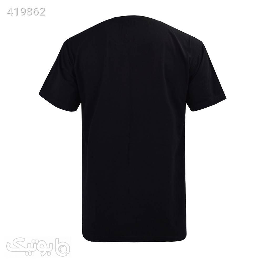 تیشرت نخی آستین کوتاه مردانه سایز بزرگ مشکی سایز بزرگ مردانه