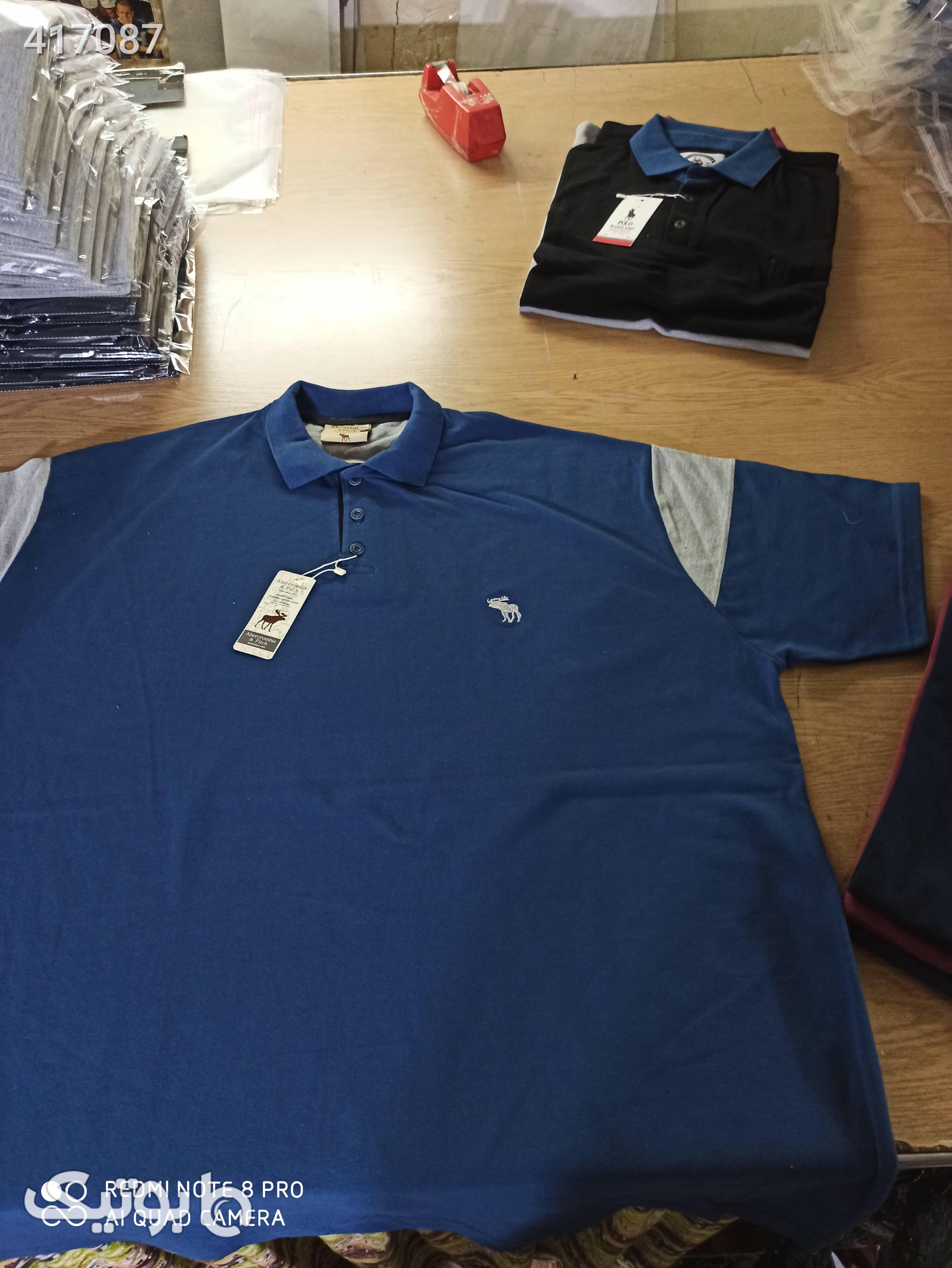 پولو شرت ابرکورومبی سایز بزرگ آبی سایز بزرگ مردانه