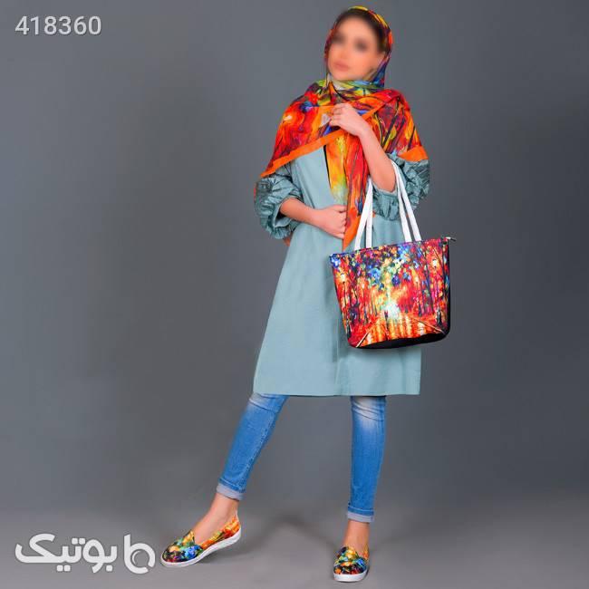 پکیج کیف وکفش وروسری دخترانه مدل Sharika نارنجی ست کیف و کفش زنانه