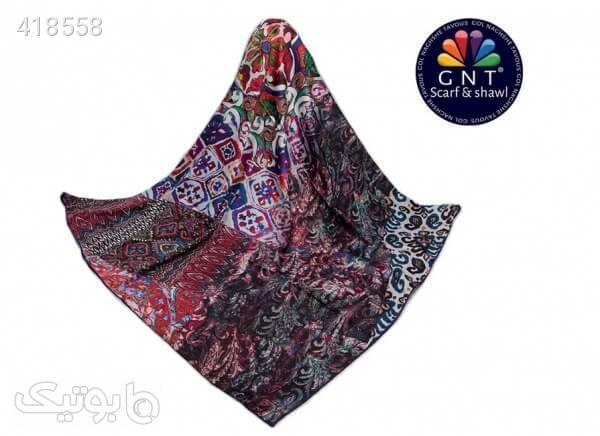 روسری ابریشمی زنانه جی ان تی GNT مدل S18-1034 کد 04 زرشکی شال و روسری
