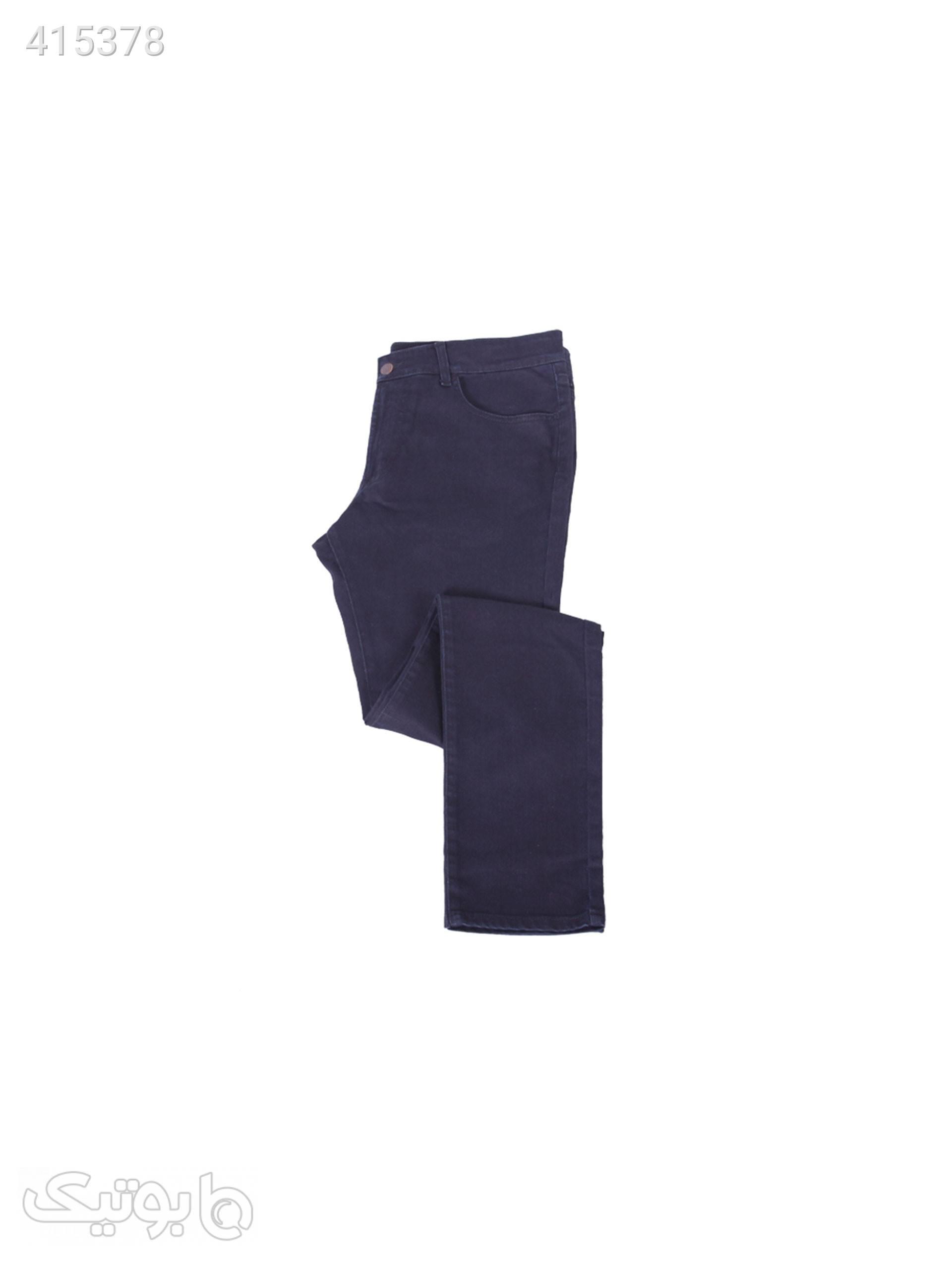 شلوار جین مردانه کد EL-72 سورمه ای شلوار مردانه
