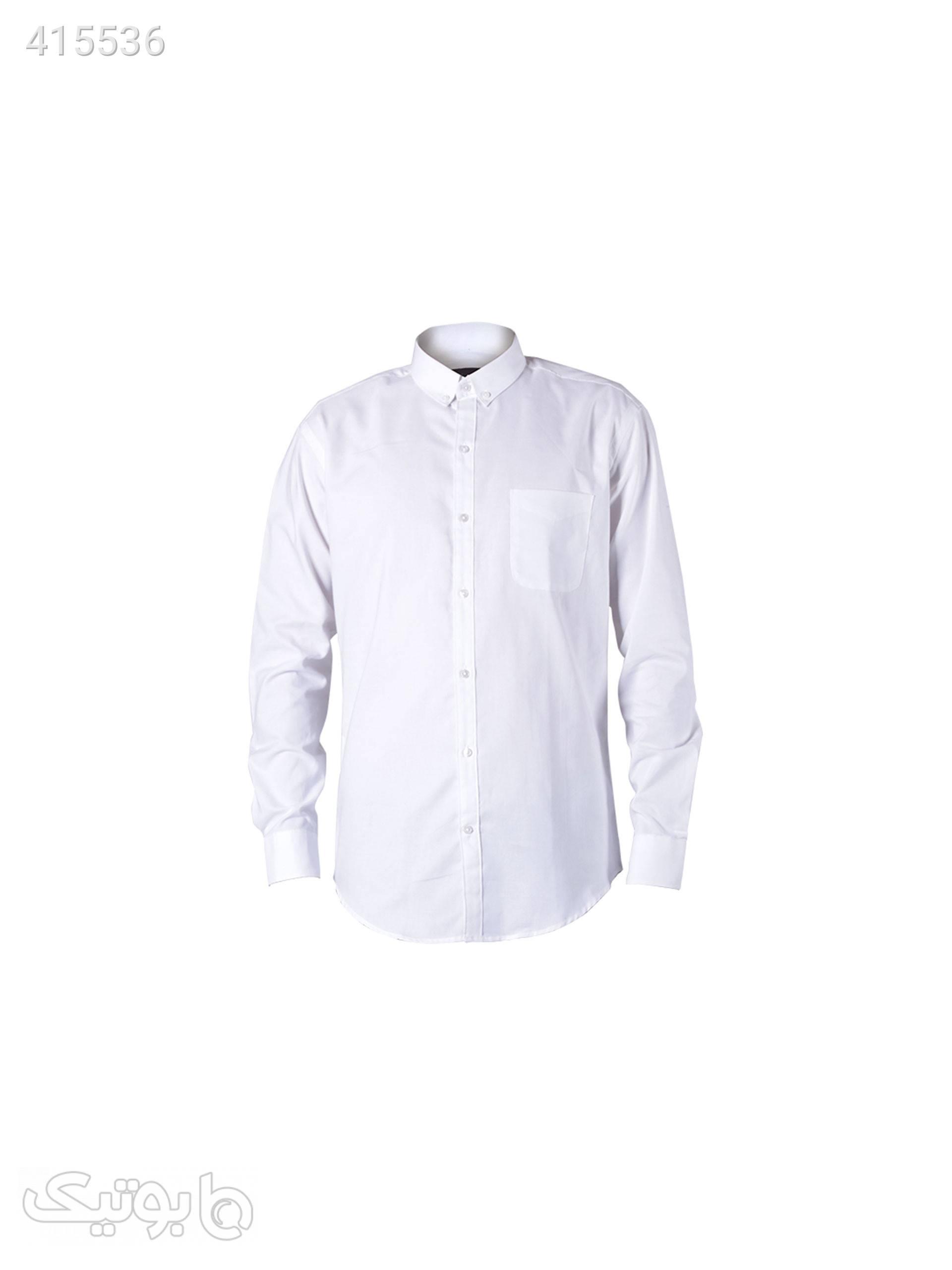 پیراهن مردانه جودون سفید سفید پيراهن مردانه