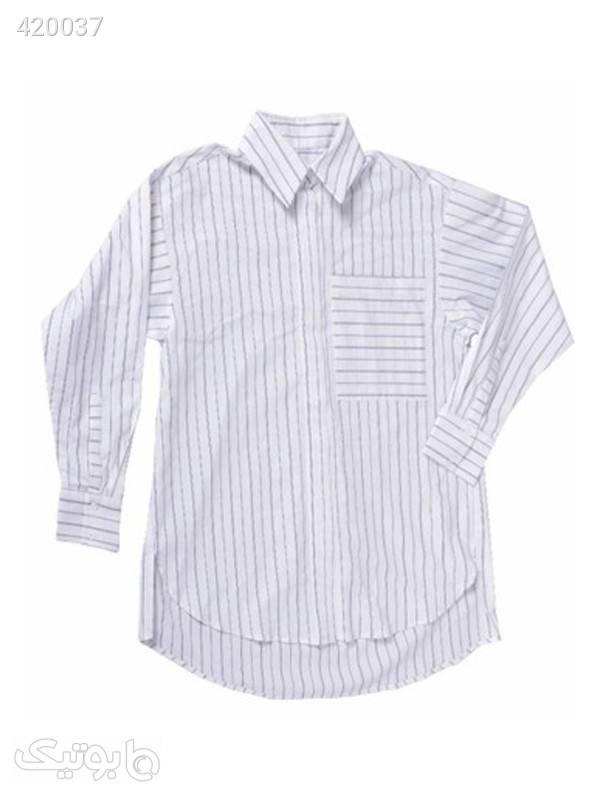 پیراهن مردانه کد EL-87 سفید پيراهن مردانه
