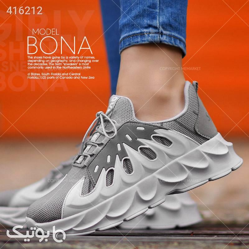 كفش دخترانه مدل BONA سفید كتانی زنانه