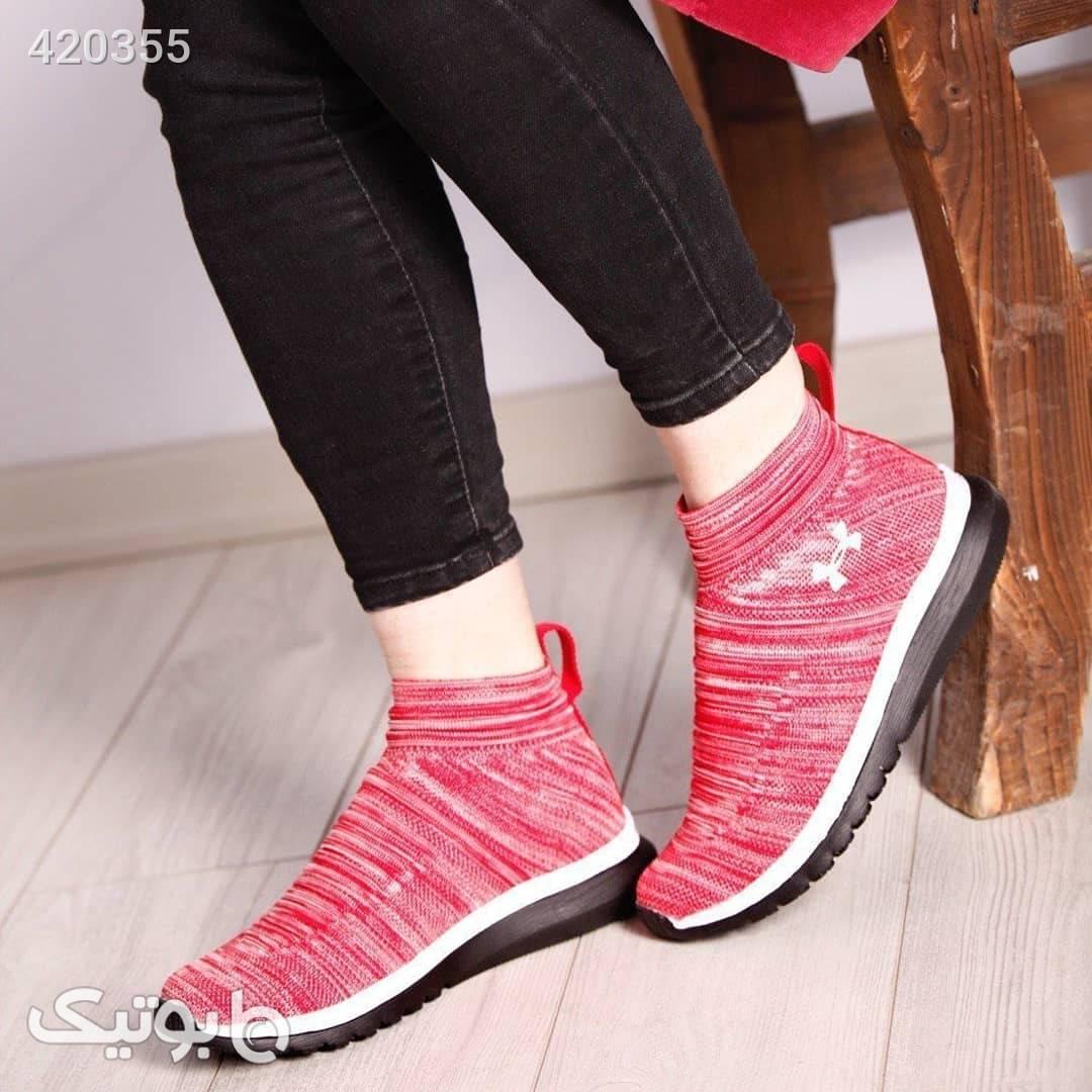 کفش راحتی جورابی مشکی كتانی زنانه