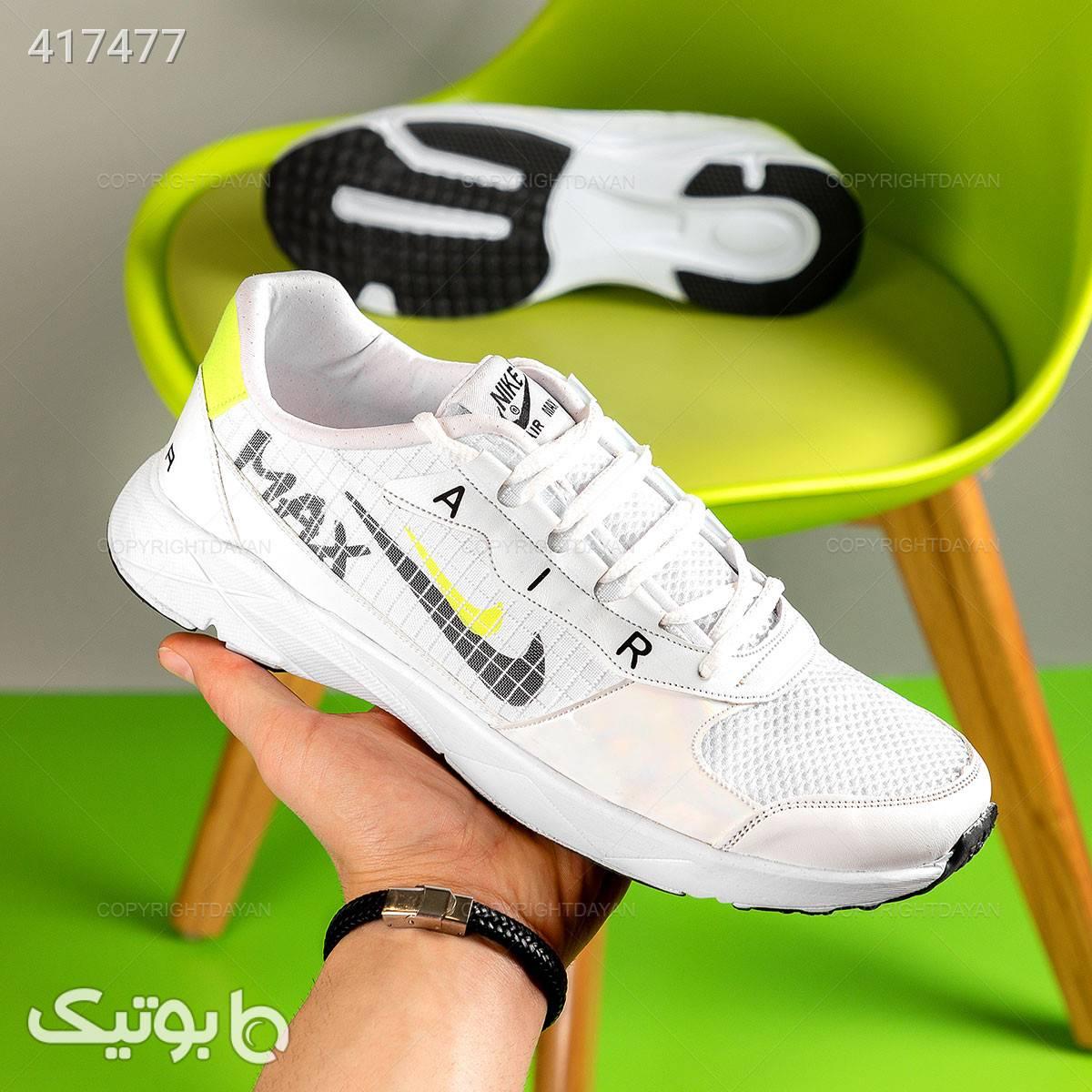 کفش مردانه Nike مدل 12677 سفید كتانی مردانه
