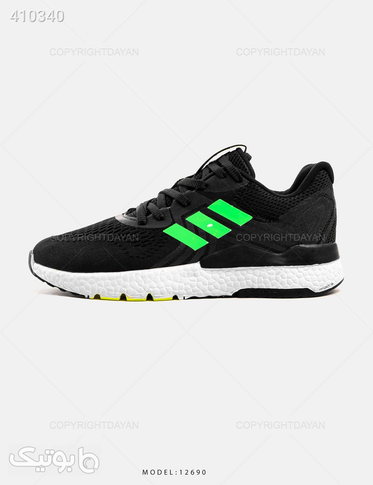 کفش  Adidas مدل 12690 سبز كتانی مردانه