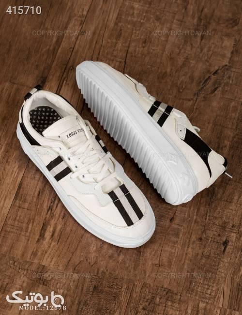 کفش مردانه Louis Vuitton مدل 12878  مشکی كتانی مردانه