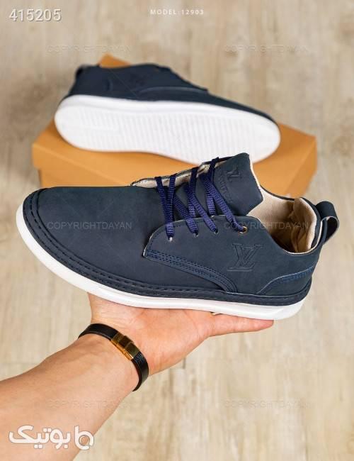 کفش مردانه Louis Vuitton مدل 12903  سورمه ای كتانی مردانه