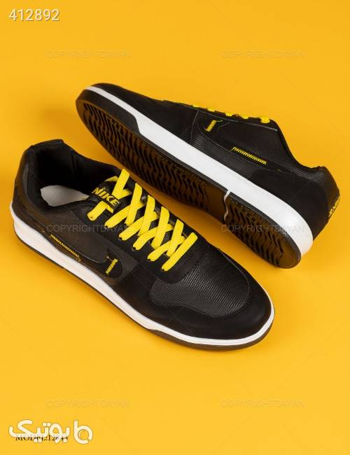 کفش مردانه Nike مدل 12843  زرد كتانی مردانه