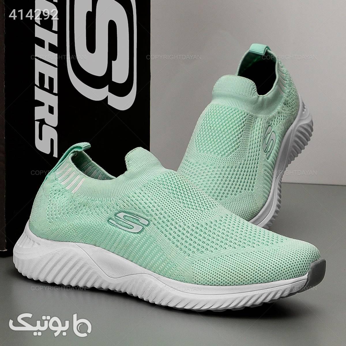 کفش اسکیچرز راحتی زنانه سبز كفش زنانه
